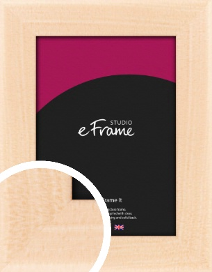 Rounded Natural Wood Picture Frame (VRMP-266)