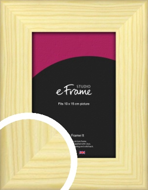 Wide Nordic Natural Wood Picture Frame, 10x15cm (4x6