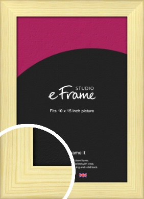 Wide Nordic Natural Wood Picture Frame, 10x15