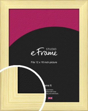 Wide Nordic Natural Wood Picture Frame, 12x16
