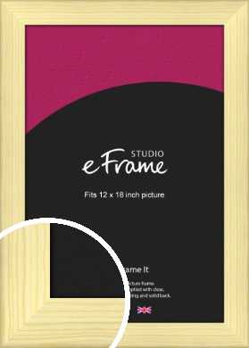 Wide Nordic Natural Wood Picture Frame, 12x18