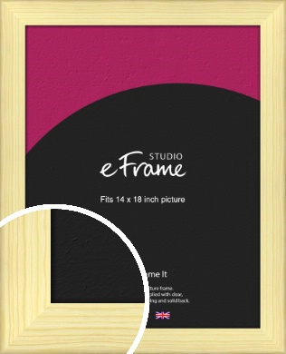 Wide Nordic Natural Wood Picture Frame, 14x18