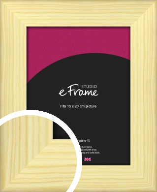 Wide Nordic Natural Wood Picture Frame, 15x20cm (6x8