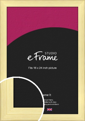 Wide Nordic Natural Wood Picture Frame, 16x24
