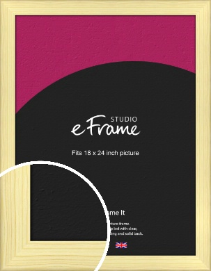 Wide Nordic Natural Wood Picture Frame, 18x24