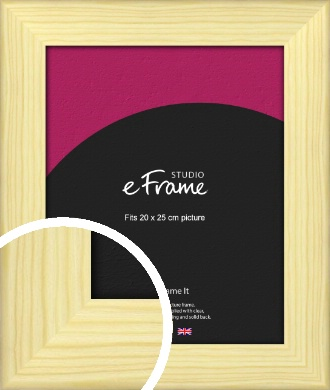 Wide Nordic Natural Wood Picture Frame, 20x25cm (8x10