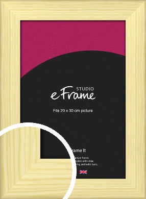 Wide Nordic Natural Wood Picture Frame, 20x30cm (8x12