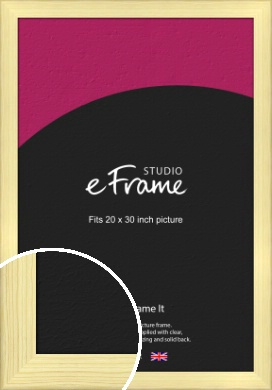 Wide Nordic Natural Wood Picture Frame, 20x30