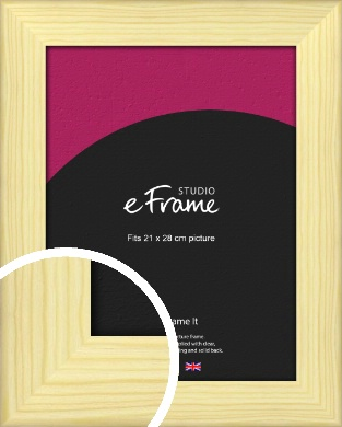 Wide Nordic Natural Wood Picture Frame, 21x28cm (VRMP-435-21x28cm)