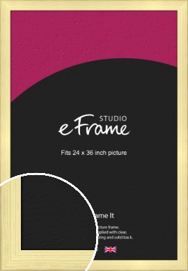 Wide Nordic Natural Wood Picture Frame, 24x36