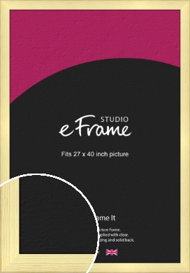 Wide Nordic Natural Wood Picture Frame, 27x40