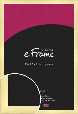 Wide Nordic Natural Wood Picture Frame, 27x41