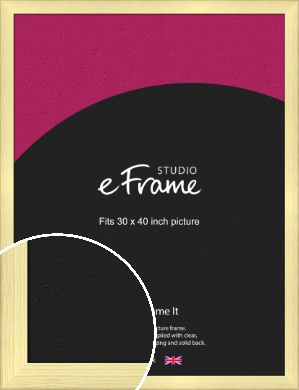 Wide Nordic Natural Wood Picture Frame, 30x40