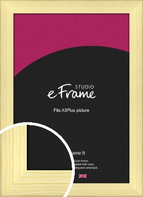 Wide Nordic Natural Wood Picture Frame, A3Plus (VRMP-435-329x483mm)