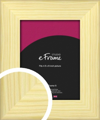 Wide Nordic Natural Wood Picture Frame, 4.5x6