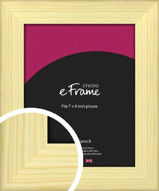 Wide Nordic Natural Wood Picture Frame, 7x9