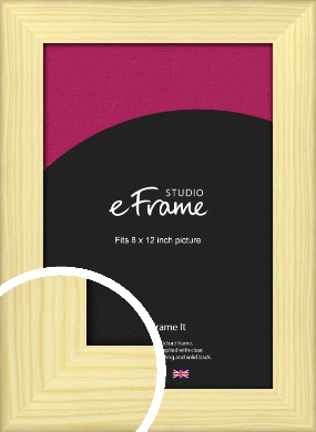 Wide Nordic Natural Wood Picture Frame, 8x12