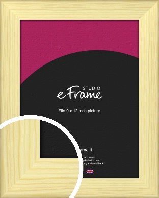 Wide Nordic Natural Wood Picture Frame, 9x12