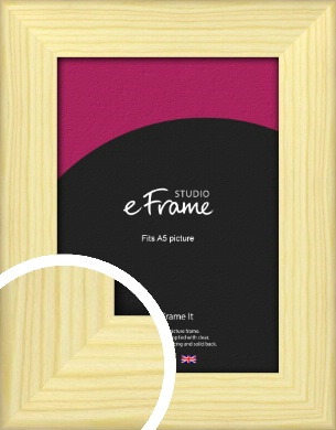 Wide Nordic Natural Wood Picture Frame, A5 (148x210mm) (VRMP-435-A5)