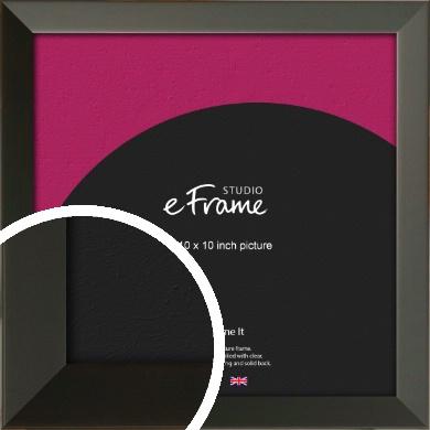 Flat Modern Black Picture Frame, 10x10
