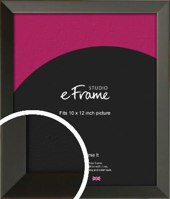Flat Modern Black Picture Frame, 10x12