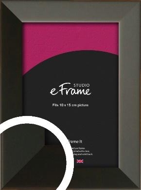 Flat Modern Black Picture Frame, 10x15cm (4x6