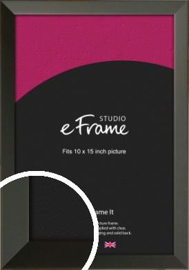 Flat Modern Black Picture Frame, 10x15