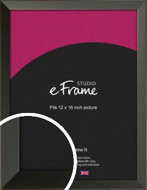 Flat Modern Black Picture Frame, 12x16