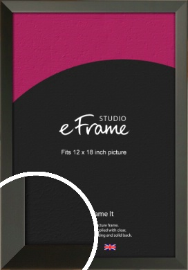 Flat Modern Black Picture Frame, 12x18
