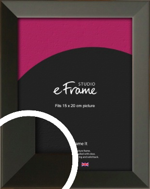 Flat Modern Black Picture Frame, 15x20cm (6x8