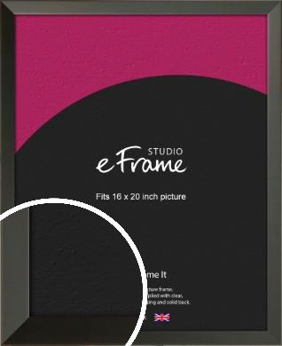 Flat Modern Black Picture Frame, 16x20