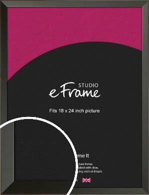 Flat Modern Black Picture Frame, 18x24
