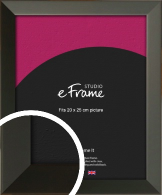 Flat Modern Black Picture Frame, 20x25cm (8x10