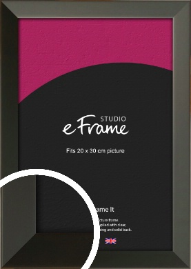 Flat Modern Black Picture Frame, 20x30cm (8x12