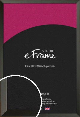 Flat Modern Black Picture Frame, 20x30