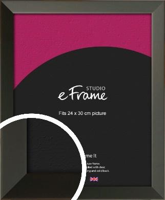 Flat Modern Black Picture Frame, 24x30cm (VRMP-764-24x30cm)