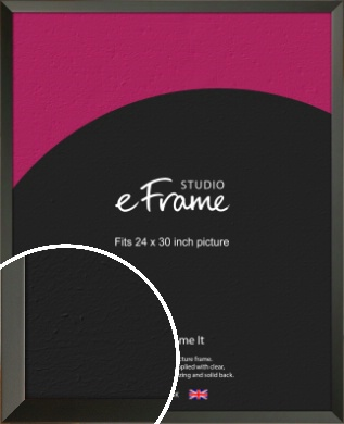 Flat Modern Black Picture Frame, 24x30