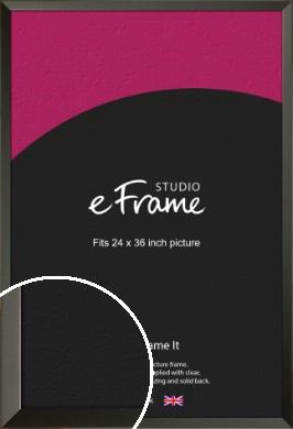 Flat Modern Black Picture Frame, 24x36