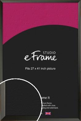 Flat Modern Black Picture Frame, 27x41