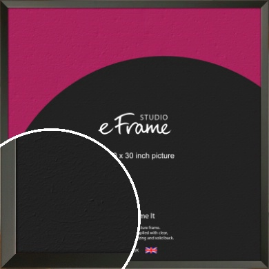 Flat Modern Black Picture Frame, 30x30