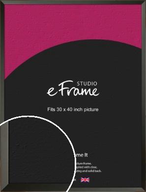 Flat Modern Black Picture Frame, 30x40