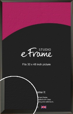 Flat Modern Black Picture Frame, 30x48