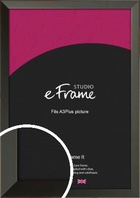 Flat Modern Black Picture Frame, A3Plus (VRMP-764-329x483mm)