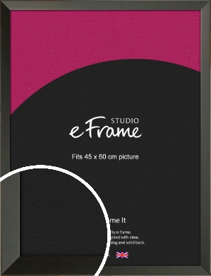 Flat Modern Black Picture Frame, 45x60cm (VRMP-764-45x60cm)