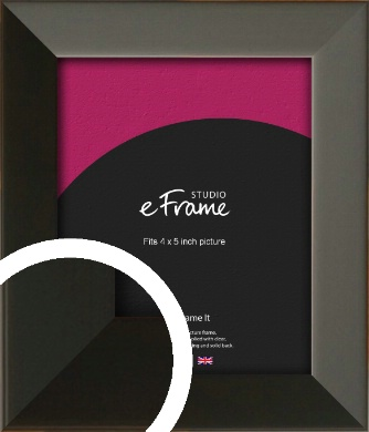 Flat Modern Black Picture Frame, 4x5