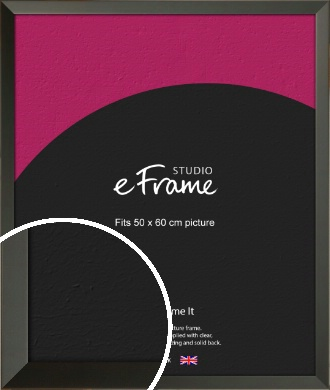 Flat Modern Black Picture Frame, 50x60cm (VRMP-764-50x60cm)