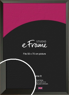 Flat Modern Black Picture Frame, 50x70cm (VRMP-764-50x70cm)