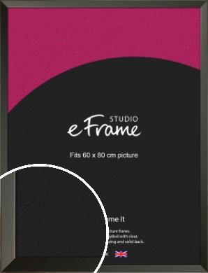 Flat Modern Black Picture Frame, 60x80cm (VRMP-764-60x80cm)