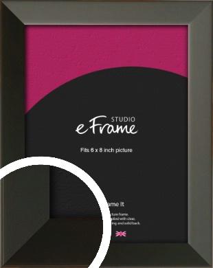 Flat Modern Black Picture Frame, 6x8