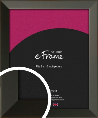 Flat Modern Black Picture Frame, 8x10